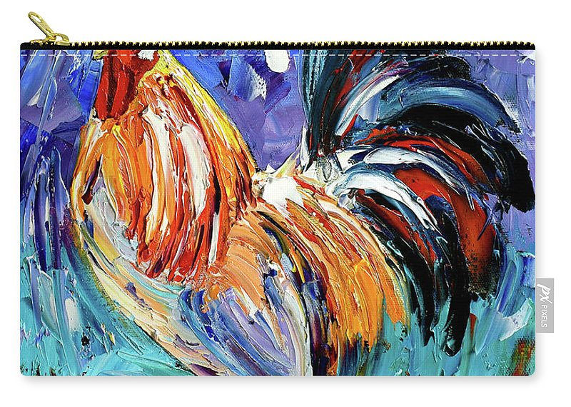Rooster Carry-all Pouch featuring the painting Another Day by Debra Hurd