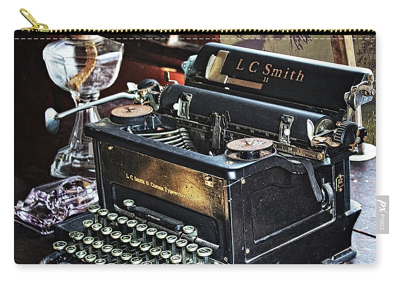 Tenant Carry-all Pouch featuring the digital art Antique Typewriter 2 by Joseph Vittek