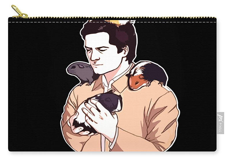 Papa Carry-all Pouch featuring the digital art Any Man Can Be A Father But It Takes A Ral Man To Be A Guinea Pig Daddy Dad by Kai McKellar