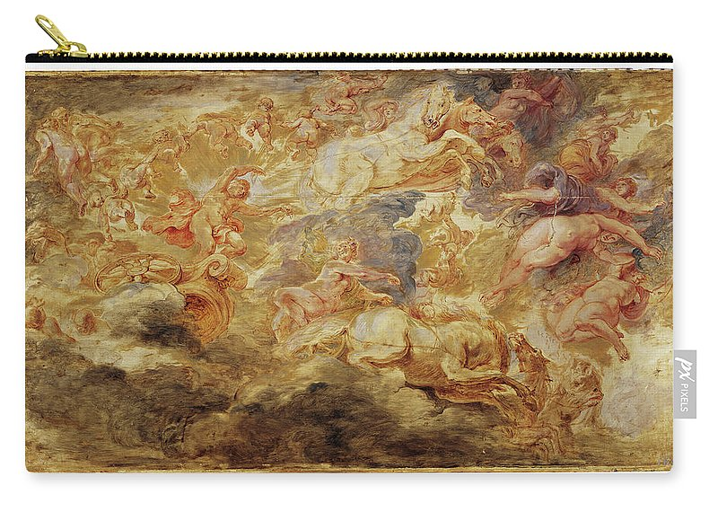 Peter Paul Rubens Carry-all Pouch featuring the painting Apollo In The Chariot Of The Sun       by Peter Paul Rubens