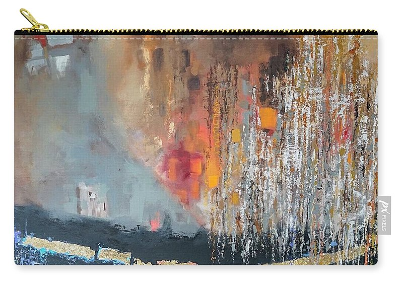 Abstract Expressionism Carry-all Pouch featuring the mixed media Apostacy by Joseph Robinson