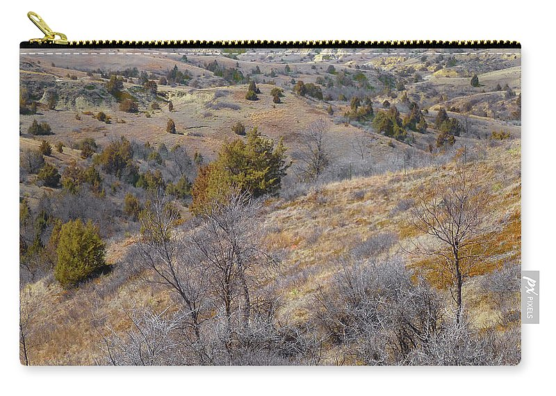 North Dakota Carry-all Pouch featuring the photograph April Prairie Reverie by Cris Fulton