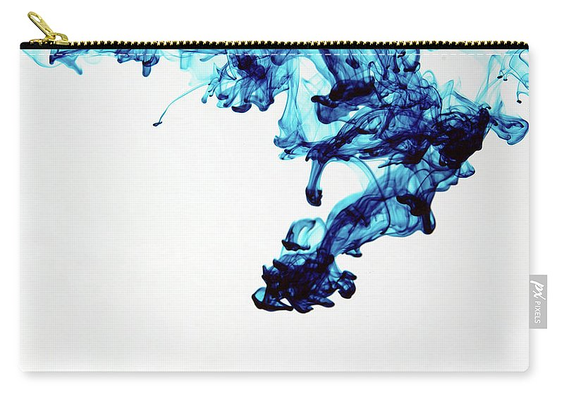 Mixing Carry-all Pouch featuring the photograph Aqua Art 1 Of 5 by Bpalmer