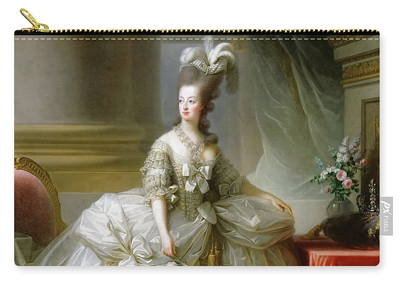 Elisabeth Louise Vigee-lebrun Carry-all Pouch featuring the painting Archduchess Marie Antoinette by Elisabeth Louise Vigee LeBrun
