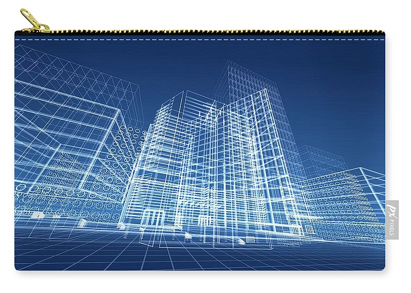 Plan Carry-all Pouch featuring the photograph Architectural Blueprint Designs For by Dinn