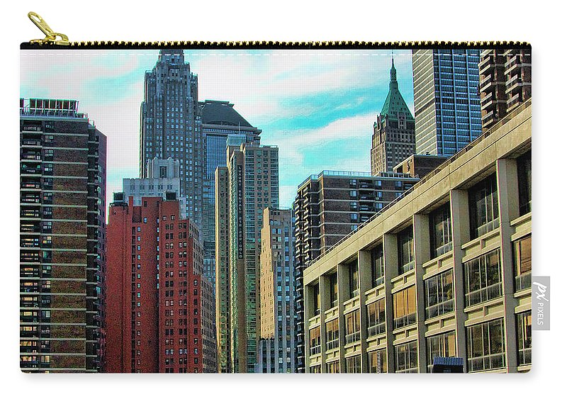 Ny Carry-all Pouch featuring the photograph Architecture Nyc From Brooklyn Bridge by Chuck Kuhn