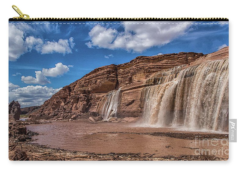 Arizona Carry-all Pouch featuring the photograph Arizona's Grand Falls by Kathy McClure