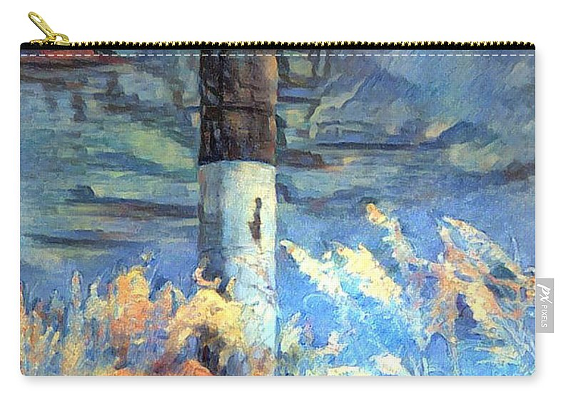 Lighthouse Carry-all Pouch featuring the photograph Arrive Safely by Minnetta Heidbrink