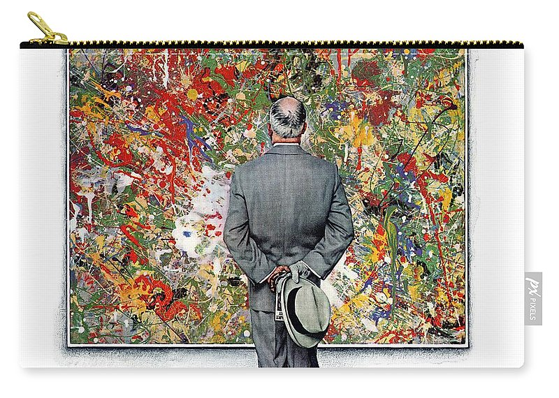 Art Carry-all Pouch featuring the drawing Art Connoisseur by Norman Rockwell