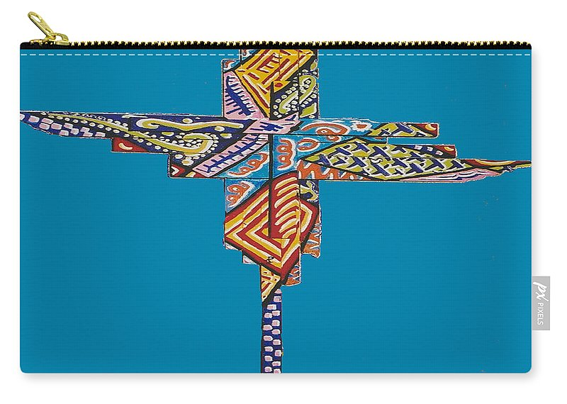 Abstract Carry-all Pouch featuring the painting The Abstract Cross by R C Rawxe Clemens