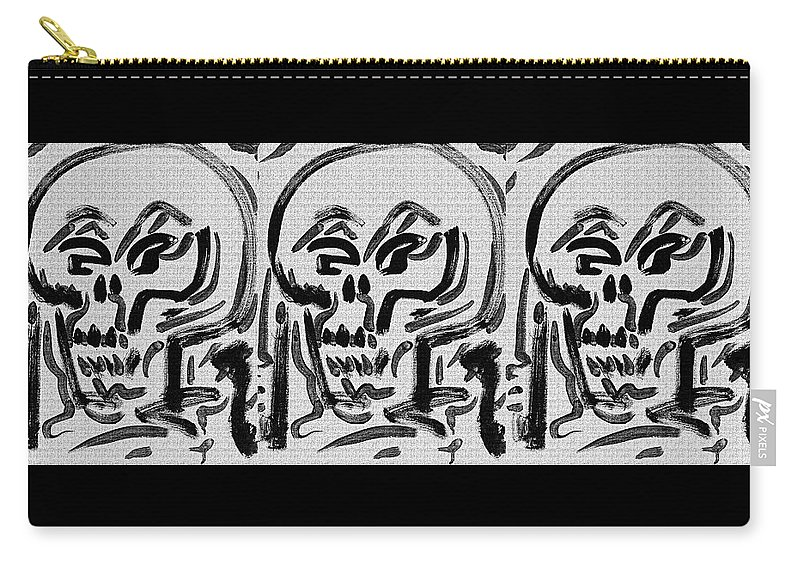 Jimmy Longoria Carry-all Pouch featuring the painting Calavera #6 by Jimmy Longoria