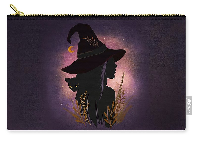 Painting Carry-all Pouch featuring the painting Samhain Summers End Celtic Harvest Festival by Little Bunny Sunshine