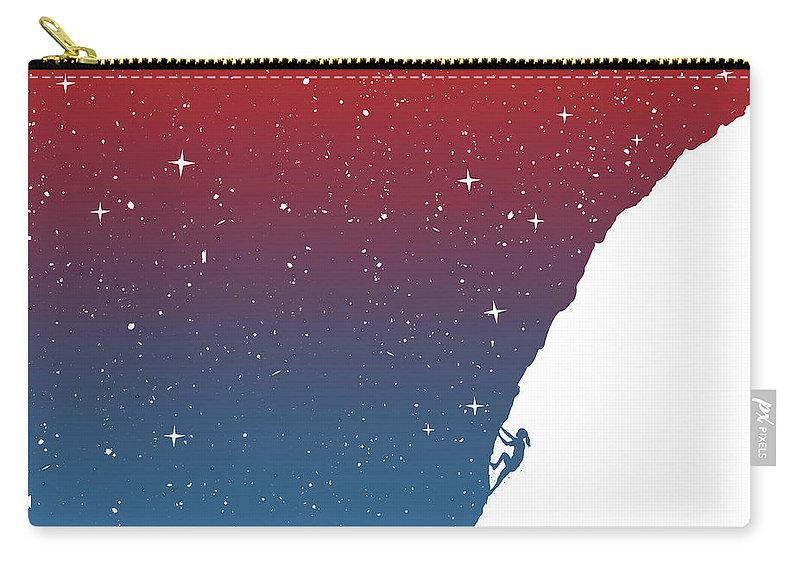 Girl Carry-all Pouch featuring the mixed media Night climbing II by Balazs Solti
