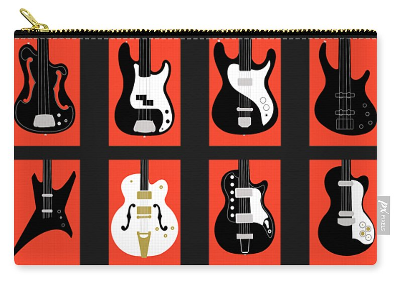 Fender Carry-all Pouch featuring the photograph The Classic Electric Guitar Gallery by Mark Rogan