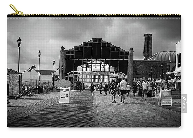 Nj Carry-all Pouch featuring the photograph Asbury Park Boardwalk by Steve Stanger
