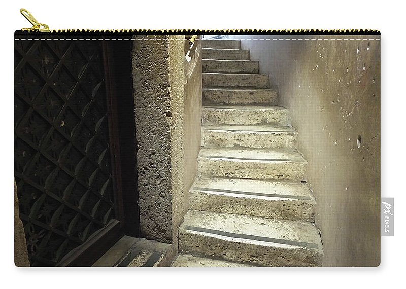 Stone Staircase Carry-all Pouch featuring the photograph Ascend by Royce A Owens