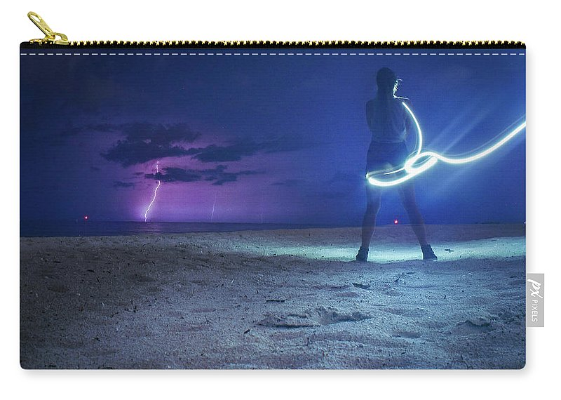 Storm Carry-all Pouch featuring the photograph Ashes To Ashes by Ashleena Valene Taylor
