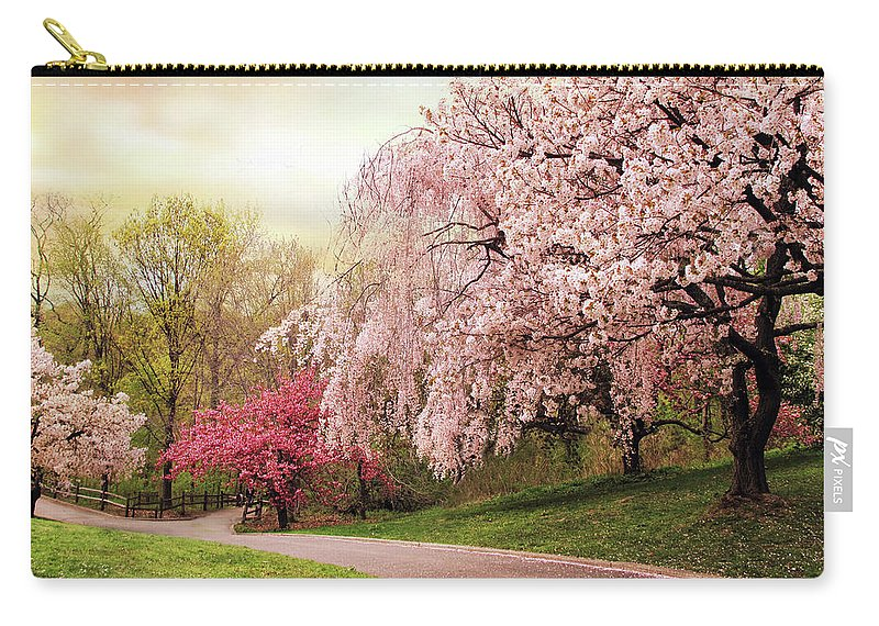 Nature Carry-all Pouch featuring the photograph Asian Cherry Grove by Jessica Jenney