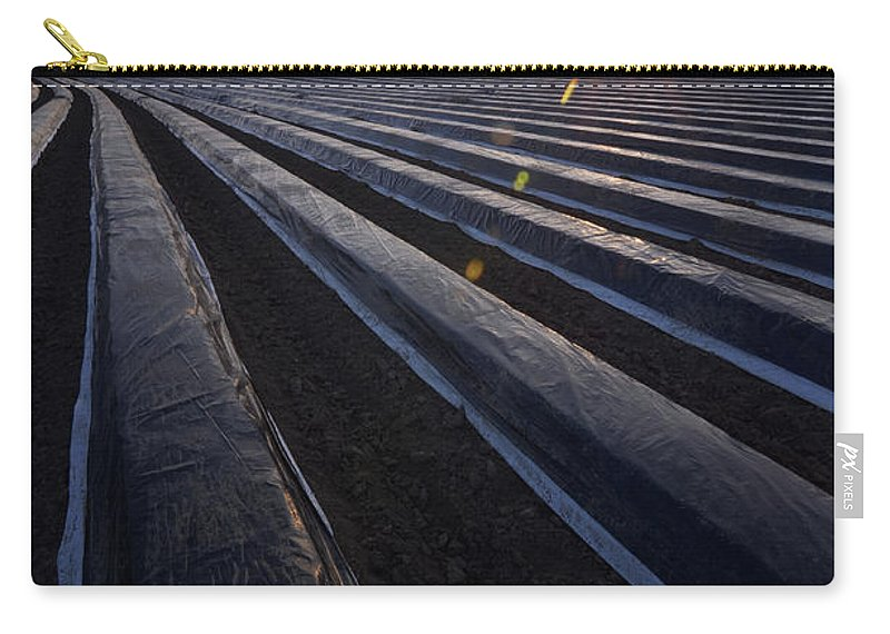 Tranquility Carry-all Pouch featuring the photograph Asparagus Field by Andy Brandl