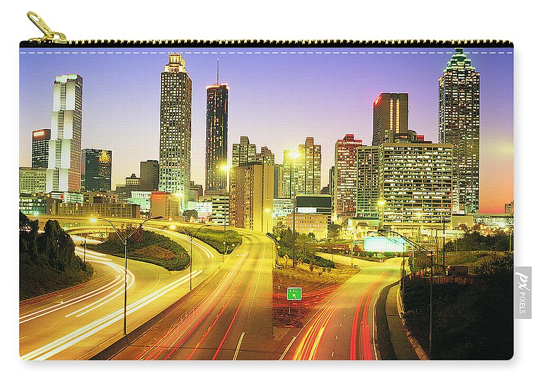 Atlanta Carry-all Pouch featuring the photograph Atlanta Skyline, Georgia, Usa by Travel Ink