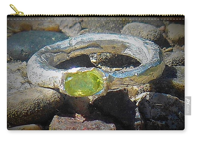 Silver Rings Carry-all Pouch featuring the jewelry August Ring by Samuel Zylstra