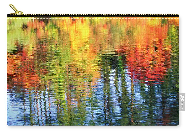 Outdoors Carry-all Pouch featuring the photograph Autumn Color Reflection by Ooyoo
