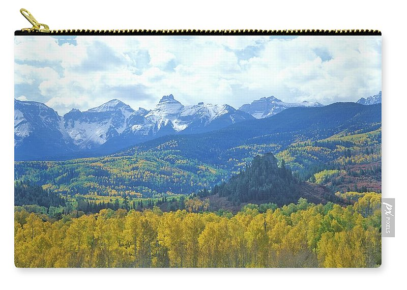 Scenics Carry-all Pouch featuring the photograph Autumn Colors In The Sneffels Mountain by Visionsofamerica/joe Sohm
