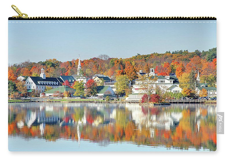 Scenics Carry-all Pouch featuring the photograph Autumn On Lake Winnipesaukee by Denistangneyjr