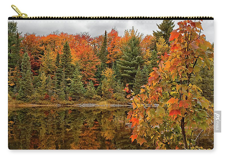 Algonquin Provincial Park Carry-all Pouch featuring the photograph Autumn Reflections by Phill Doherty