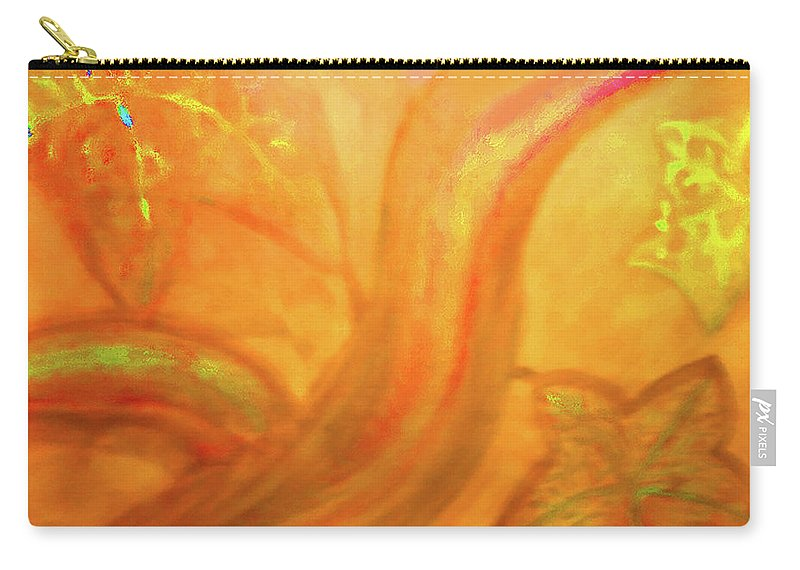 Autum Colors Carry-all Pouch featuring the mixed media Autumn Transformation by Karen Szybalski
