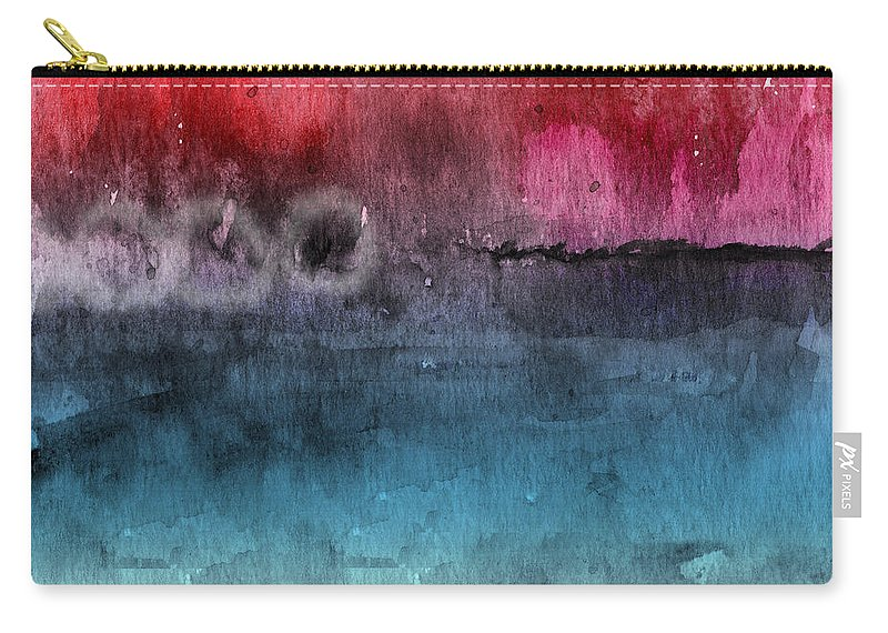 Abstract Carry-all Pouch featuring the painting Awakened 4- Abstract Art by Linda Woods by Linda Woods