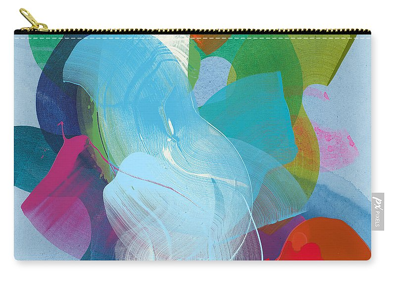 Abstract Carry-all Pouch featuring the painting Away A While by Claire Desjardins