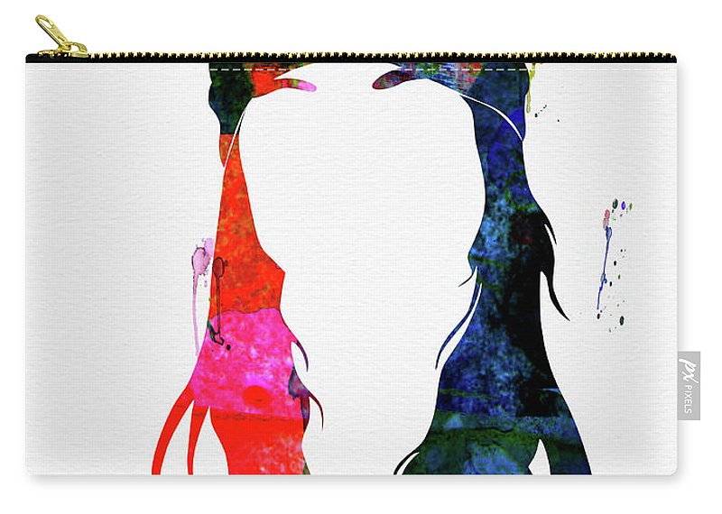 Axl Rose Carry-all Pouch featuring the mixed media Axl Rose Watercolor by Naxart Studio