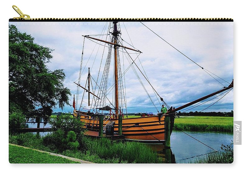Pirate Carry-all Pouch featuring the photograph Aye Aye Captain by Robert Scott Kuhlkin