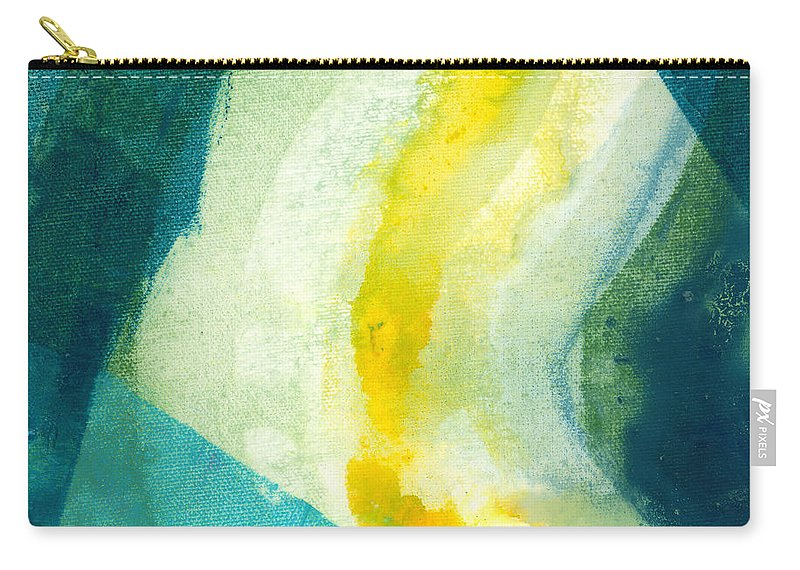 Abstract Carry-all Pouch featuring the painting Back by Claire Desjardins