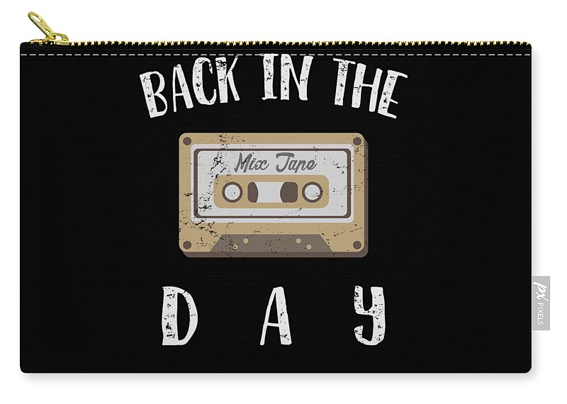 Funny-shirts Carry-all Pouch featuring the digital art Back In The Day 80s Cassette Funny Old Mix Tape by Henry B