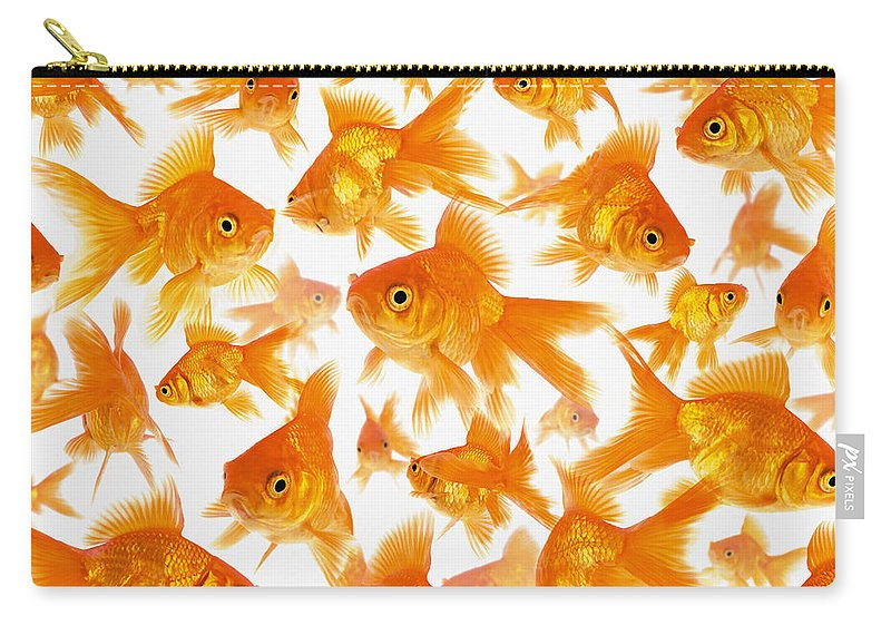Orange Color Carry-all Pouch featuring the photograph Background Showing A Large Group Of by Cocoon