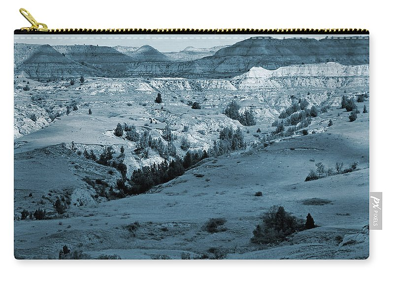 North Dakota Carry-all Pouch featuring the photograph Badlands Shadows And Sunlight by Cris Fulton