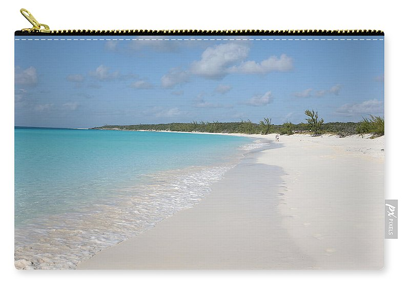 Wind Carry-all Pouch featuring the photograph Bahamas Beach Scene by Ngirish