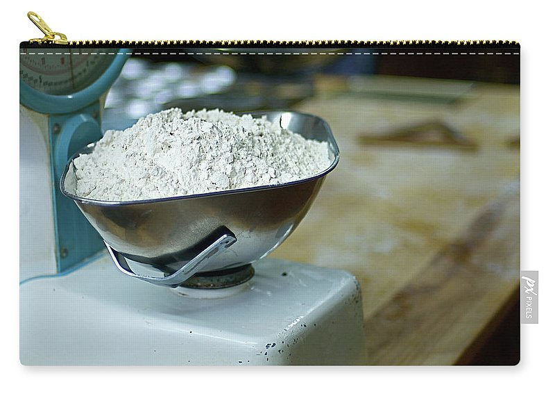 Bakery Carry-all Pouch featuring the photograph Bakery Scales by Charlie Ingham