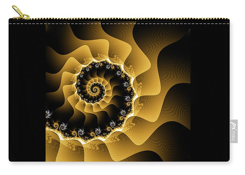 Spiral Art Carry-all Pouch featuring the digital art Balance by Jipsi Immanuelle