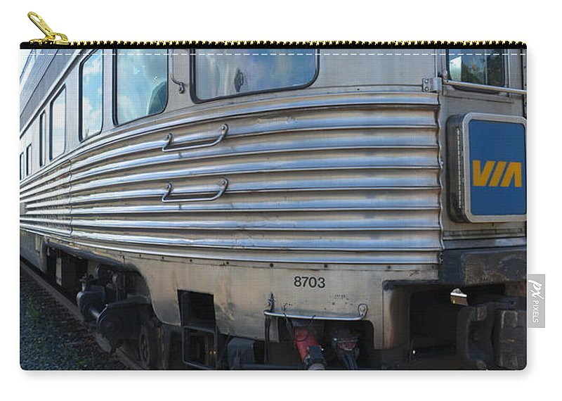 Railway Carry-all Pouch featuring the photograph Banff Park Car by Norman Burnham