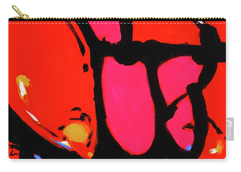 Abstract Carry-all Pouch featuring the painting Bang The Gong Loudly by Charles Wallis