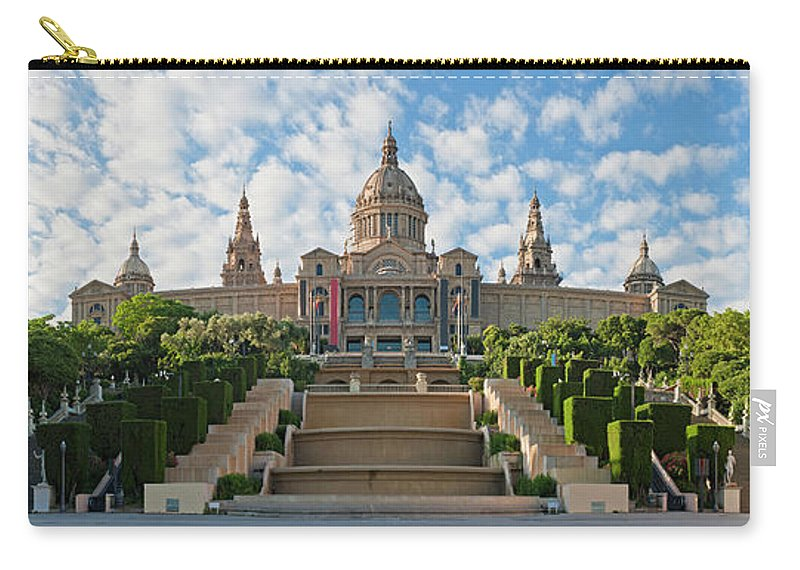 Catalonia Carry-all Pouch featuring the photograph Barcelona Museu Nacional Dart De by Fotovoyager