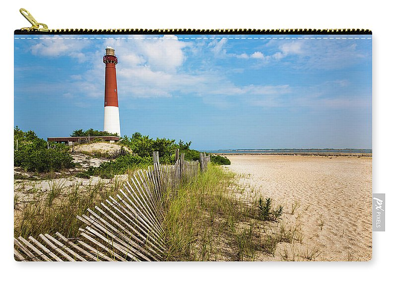 Water's Edge Carry-all Pouch featuring the photograph Barnegat Lighthouse, Sand, Beach, Dune by Dszc