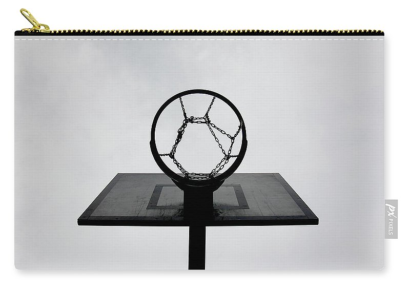 Outdoors Carry-all Pouch featuring the photograph Basketball Hoop by Christoph Hetzmannseder