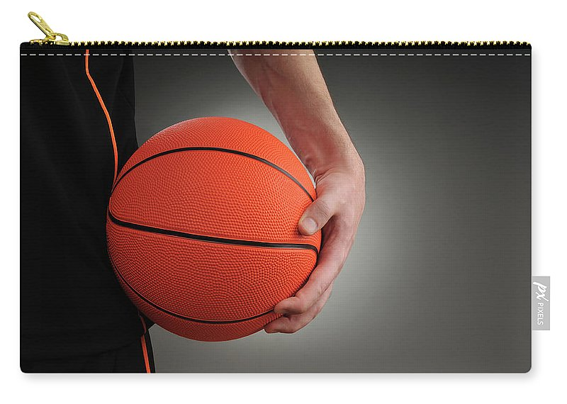People Carry-all Pouch featuring the photograph Basketball Player by Mumininan