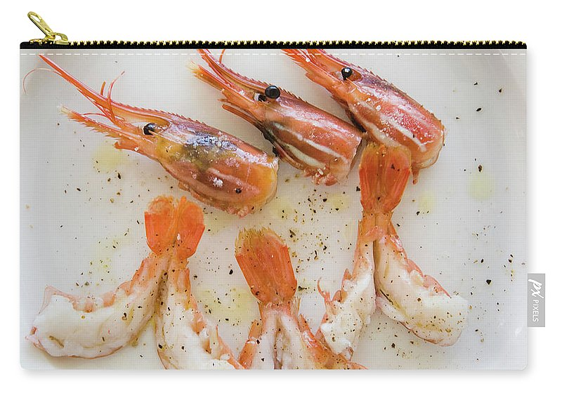Prawn Carry-all Pouch featuring the photograph Bc Spot Prawns by Ei Katsumata