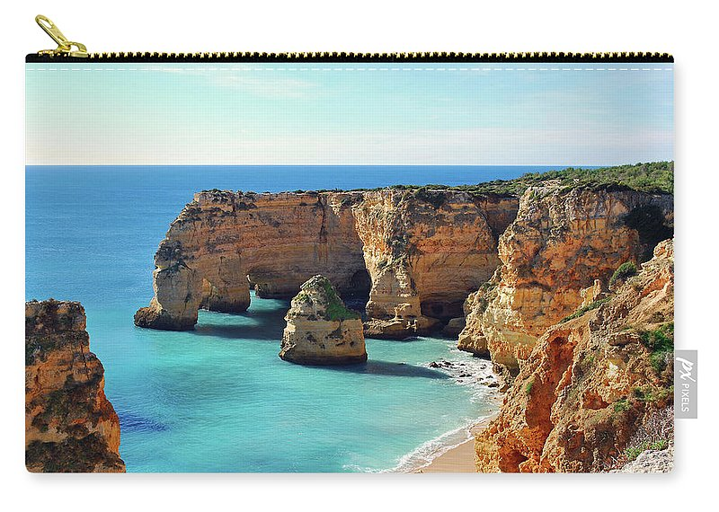 Algarve Carry-all Pouch featuring the photograph Beach by José Luís Pulido