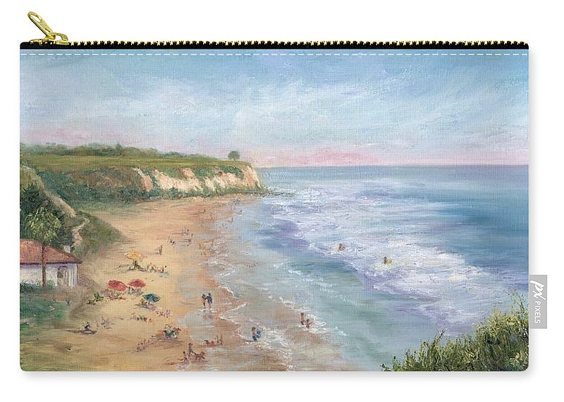 Landscape Carry-all Pouch featuring the painting Beach Party by Carolyn Paterson